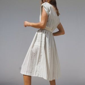 VINTAGE 80'S BELTED COTTAGECORE SUMMER DRESS